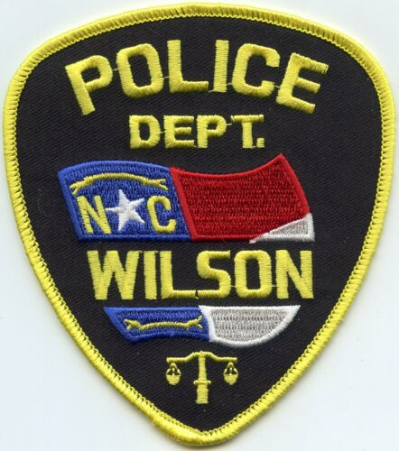 WILSON NORTH CAROLINA NC colorful state flag POLICE PATCH