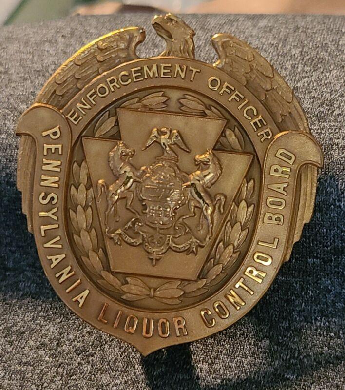 Pre-1987 Vintage Pennsylvania Liquor Control Board Officer BadgeOBSOLETE.