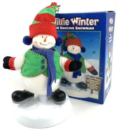 Willie Winter the Dancing Snowman Christmas Fantasy Animated Singing 2000 Vtg