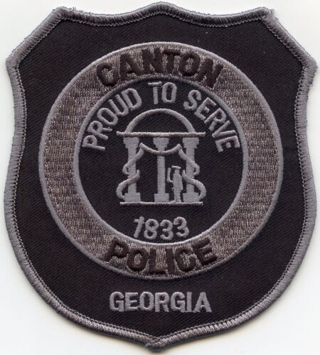 CANTON GEORGIA GA Proud To Serve SUBDUED POLICE PATCH