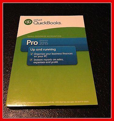Quickbooks Pro 2015 For Windows Full Intuit Us Retail Version    Brand New