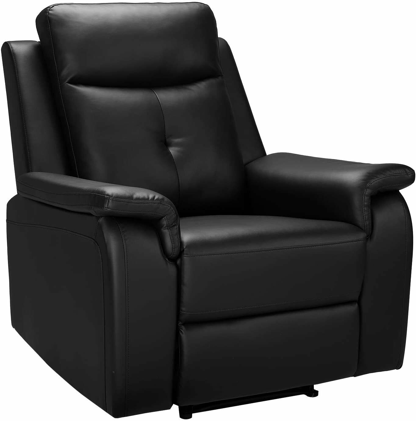 PU Leather Recliner Chair Padded Seat Sofa Chair for Living