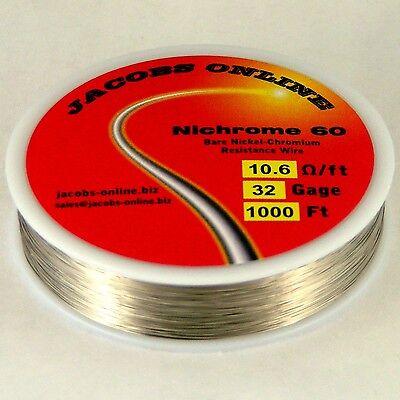 Nichrome 60 Resistance Wire 32 Awg Gauge 1000 Feet