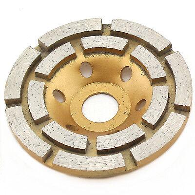 "4"" inch Double Row Diamond Grinding Cup Wheel Arbor 3/4""-5/8"" for Concrete Brick"
