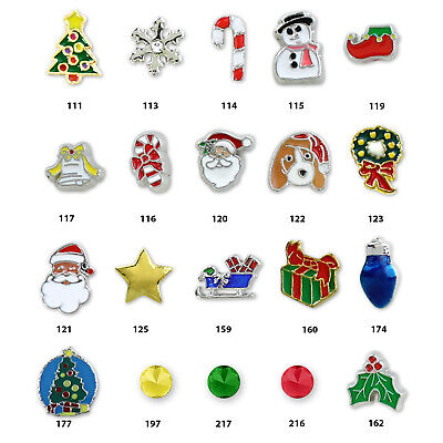 DIY Christmas Bundle Charms Floating Lockets Hair Pins Christmas Decor Craft Kit Charms Craft Kits