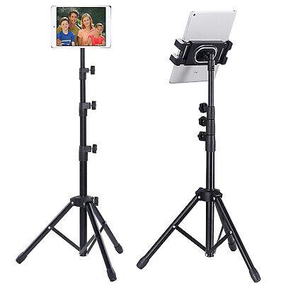 "53"" Heavy Duty Universal Floor Tablet Tripod Stand Adjust for iPad Pro 4.7-12.9"""