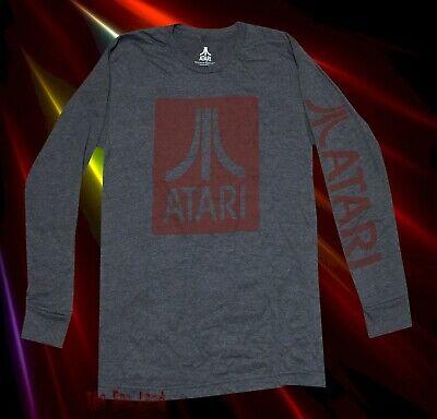 New Atari Video Games Mens Vintage Long Sleeve T-Shirt