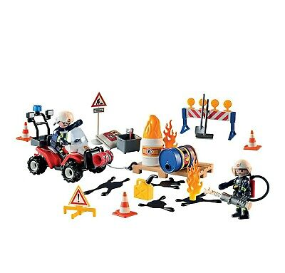 Playmobil Advent Calendar - Construction Site Fire Rescue 9486