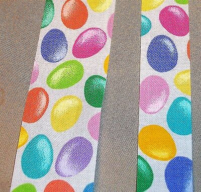 Easter Jelly Beans (5 yds  EASTER JELLY BEANS NOVELTY COTTON FABRIC RIBBON  (Choice of 2)