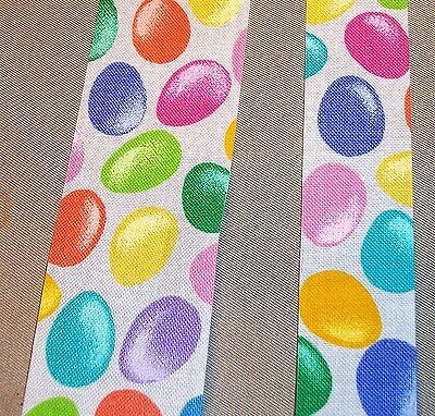 5 yds  EASTER JELLY BEANS NOVELTY COTTON FABRIC RIBBON