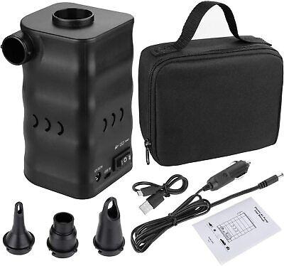 ✅ Compresor Bomba Al Aire Portable Electrica Maleta Para Inflables USB