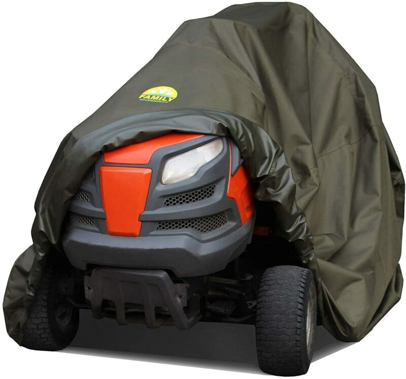 Family Accessories Riding Lawn Mower Cover 100% Waterproof Heavy Duty 600D Stora