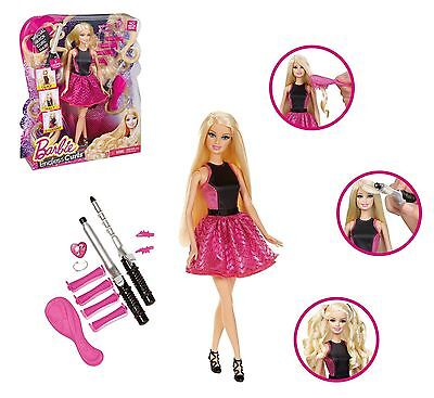 Barbie Endless Curls Doll Toy Straighteners Curlers Rollers For Hair Style New