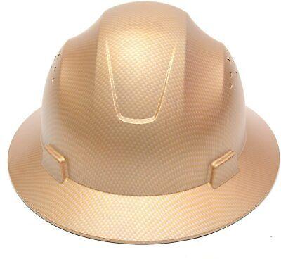 Cj Safety Full Brim Fiber Glass Hard Hat With Fas-trac