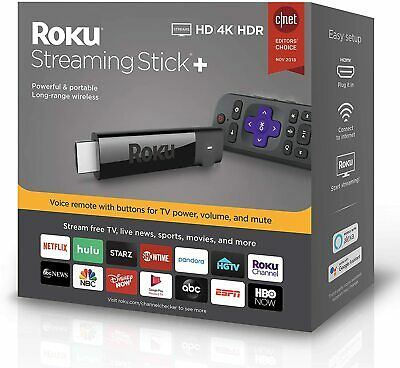 Roku 4K Ultra HD HDR Media Streaming Stick with Voice Remote with TV Controls