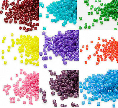 1200 Miyuki Delica #11 Glass Seed Beads 11/0 Lots of Opaque Colors 7.2 Grams