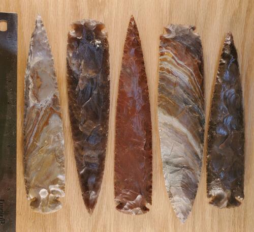 "9"" Average Flint/stone Arrowhead Spearhead Knife Blade Archery hunting #9-10"