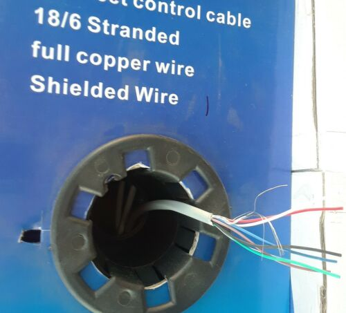 18/6 cable Stranded copper Shielded 50ft Access Control Intercom Speaker Wire