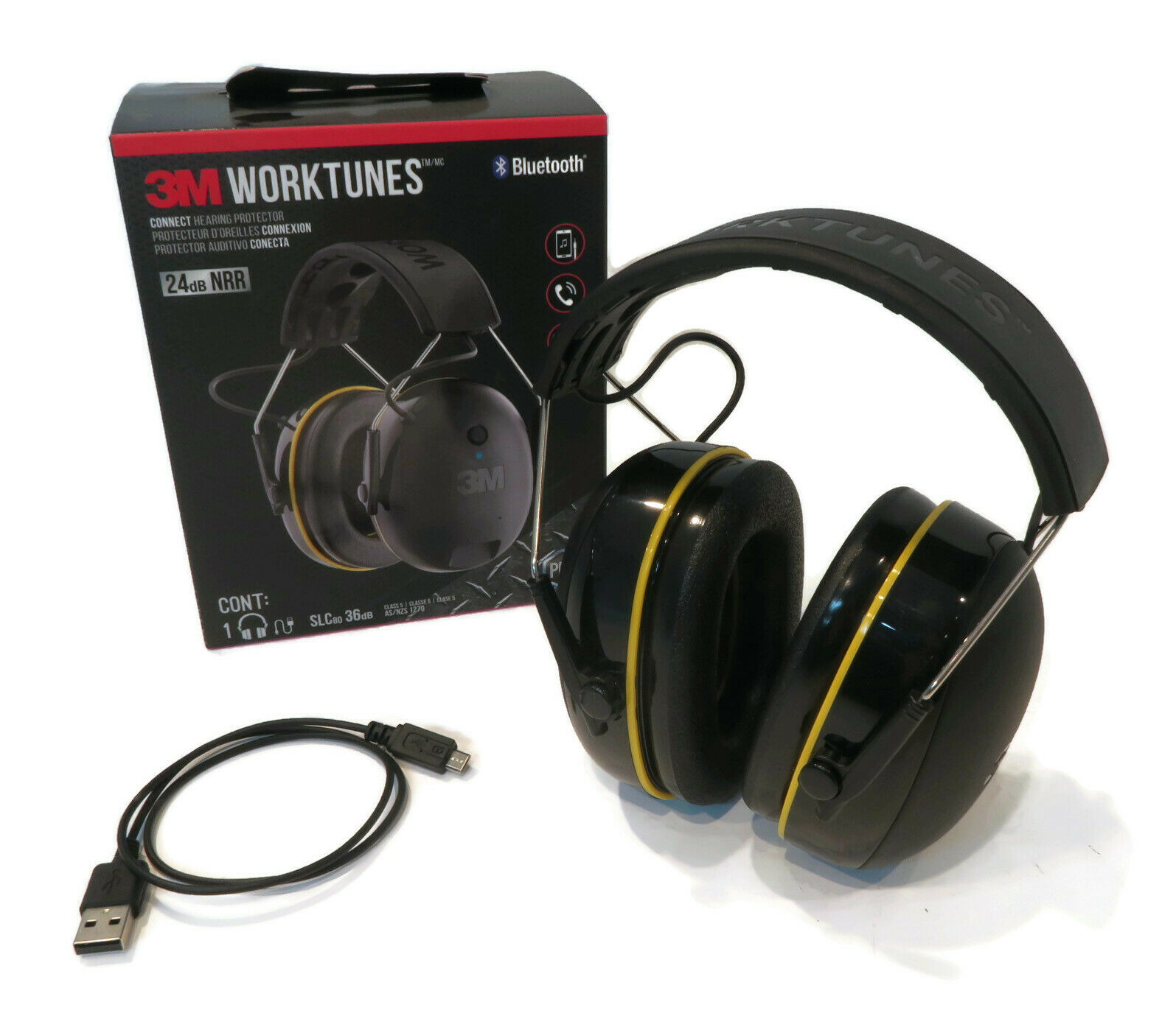 3m Worktunes Wireless Headset 24 Db With Bluetooth For Work Construction Site 193979074391 Ebay