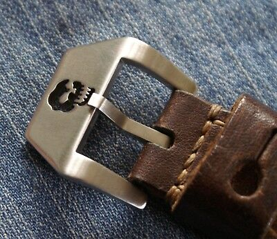Uhren-Schließe Buckle 24mm Totenkopf Skull Neu perfekt für Vintage Straps