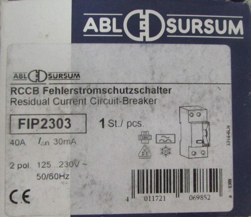 ABL SURSUM RCCB FIP2303 Residual Current Circuit Breaker 2 Pole 40 Amp