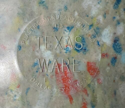 Vintage Melamine #118 F 6 Confetti Splatter Texas Ware Green Mixing Bowl