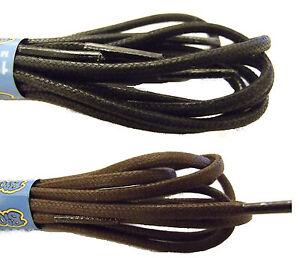 waxed cotton shoe boot laces shoelaces black brown
