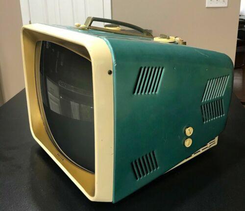 """1957 PHILCO Portable 17"""" B/W Television-Model E-3034 - BEAUTIFUL CONDITION!"""