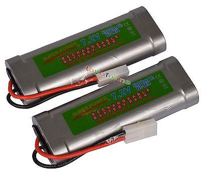 2x 7.2V 5300mAh Ni-MH Rechargeable Battery RC Tamiya USA