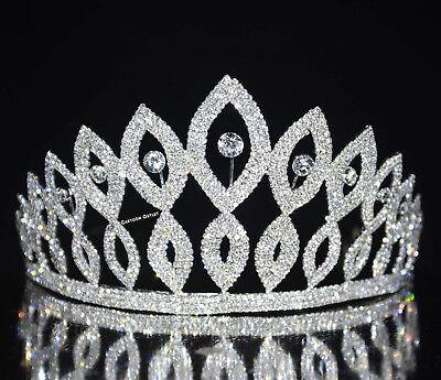 TALL QUINCEANERA TIARA CROWN RHINESTONES TIARA MIS 15 CORONA SWEET 16 BIRTHDAY - 15 Tiara