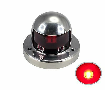 Pactrade Marine Boat Pontoon LED S.S.316  Red Port Navigation Light 12V
