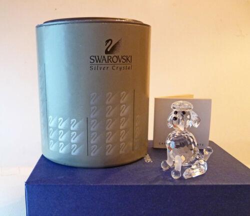 SWAROVSKI Poodle Sitting ~ 181317 ~ Mint in Box w/COA