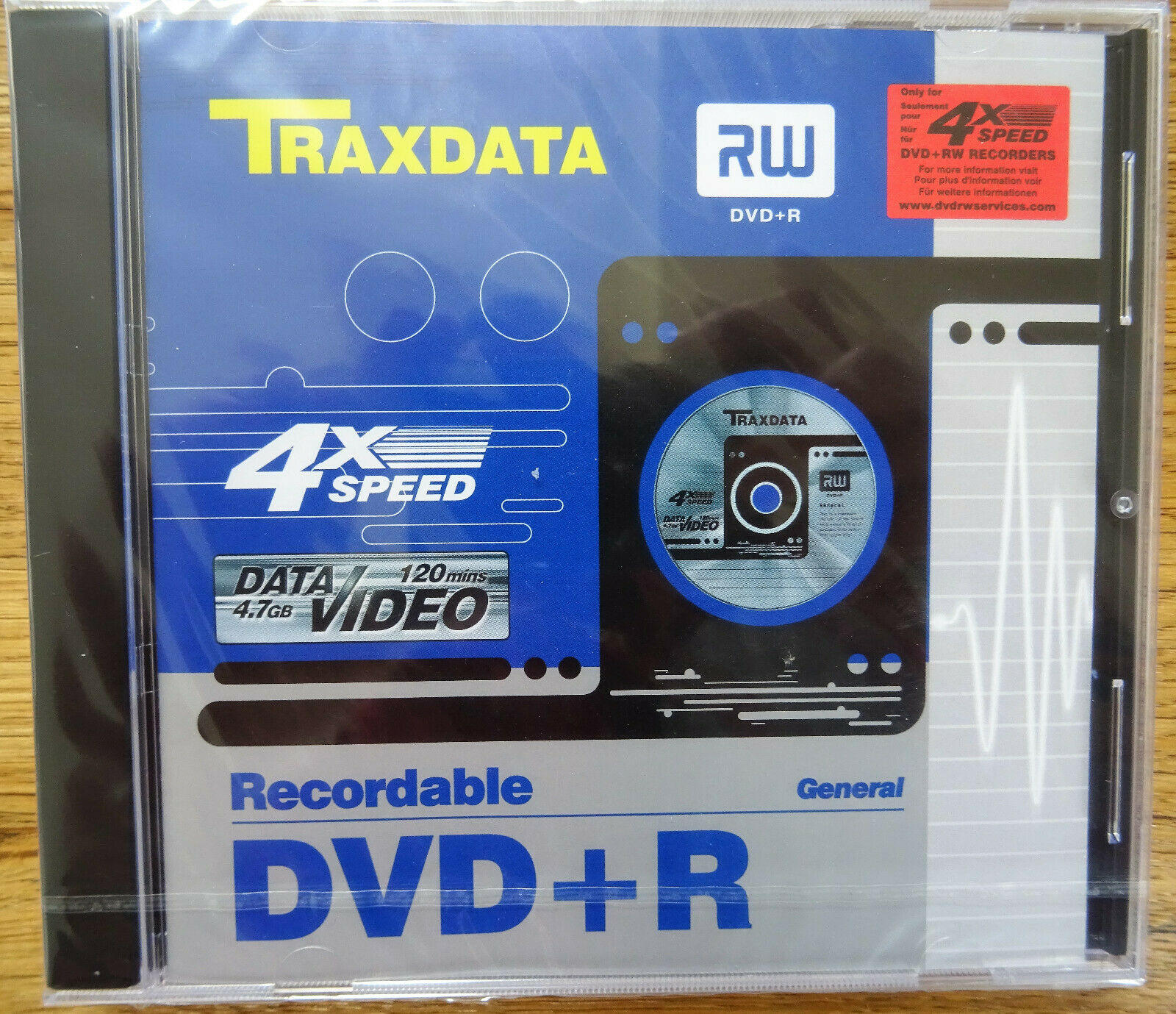 Traxdata DVD-Rohling 4.7 GB 120 Min. 4x Speed DVD+R Rohling Leer-DVD Jewel-Case