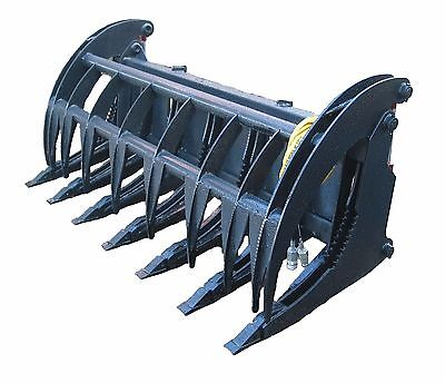 New 74 Heavy Duty Root Rake Grapple Skidsteer Attachment Wteeth Free Shipping