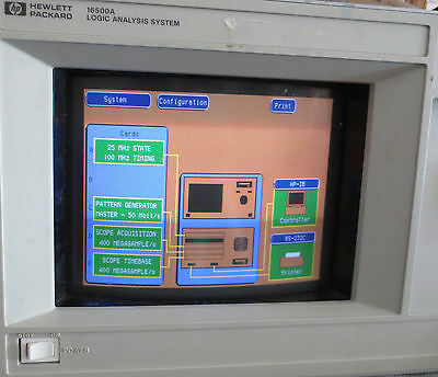 Hpagilent 16500a Logic Analyzer Crt
