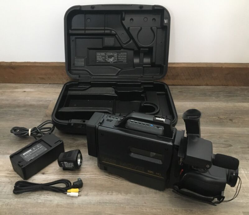 VINTAGE SEARS & ROEBUCK VHS MOVIE CAMERA CAMCORDER WITH CASE MODEL 934.53795190