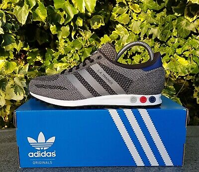 BNWB & Genuine Adidas Originals ® LA Trainer Weave in Black & Grey Trainers UK 7