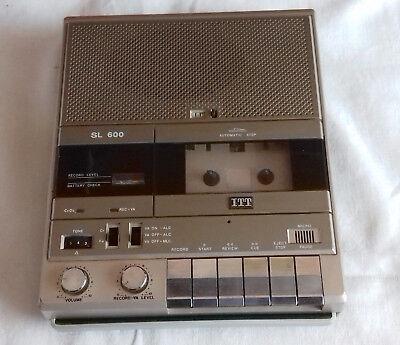 ITT SL 600 Cassettenrecorder mit VA -  ITT Kassettenrekorder SL 600