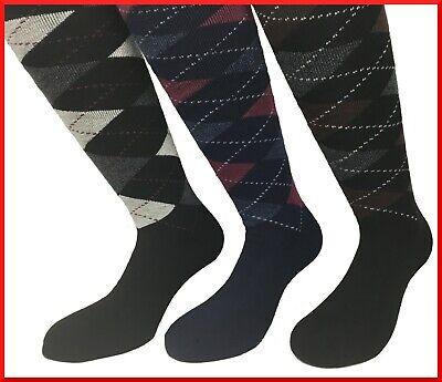 Calze in PILE lunghe calzini 3 paia da uomo donna colorate fantasia calzettoni