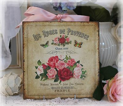 "~ ""Les Roses de Provence"" ~ Old-fogyish ~ Country Cottage style ~ Wall Decor Sign"