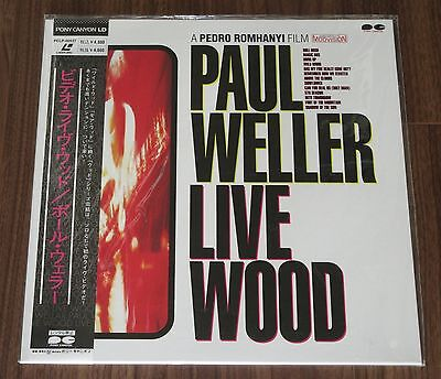 More listed! PROMO! SEALED! PAUL WELLER Japan music LASERDISC LIVE WOOD The Jam