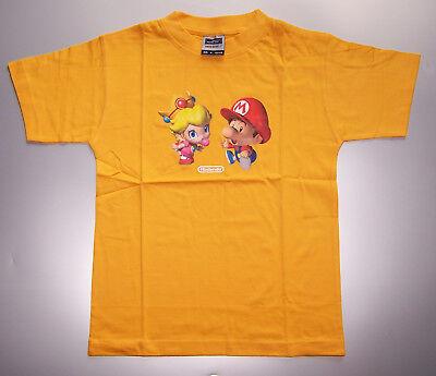 Kinder T-Shirt mit Baby Peach und Baby Mario Motiv, Nintendo, Gr. 122/128, neu,