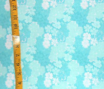Fabric Jo Ann Quilt Blocks Garden Trellis Turquoise Floral 100  Cotton 1 25 Yds