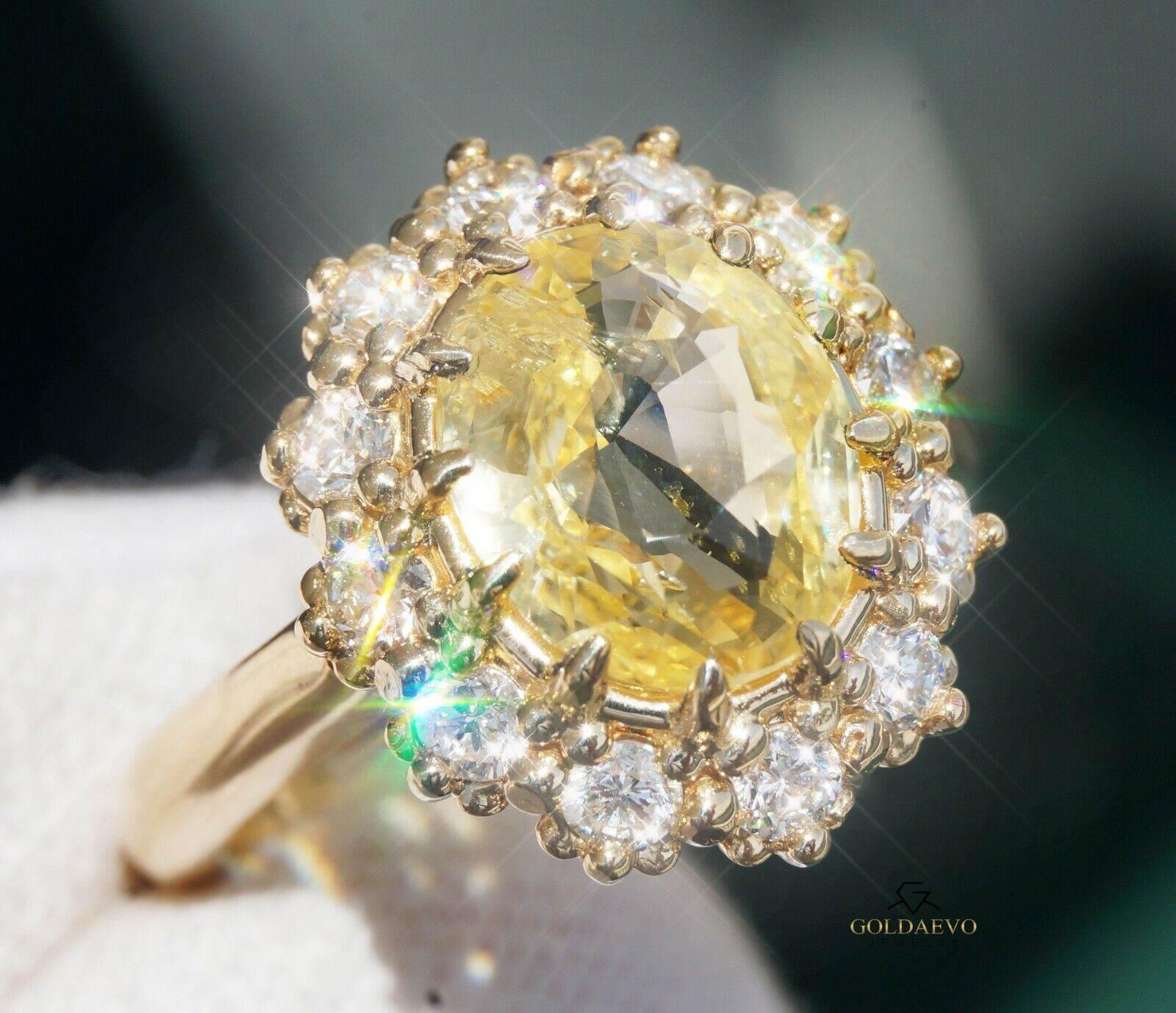 Sapphire Diamond Ring Yellow Gold 14K GIA Ceylon 4.77CTW NO HEAT RETAIL $16,700
