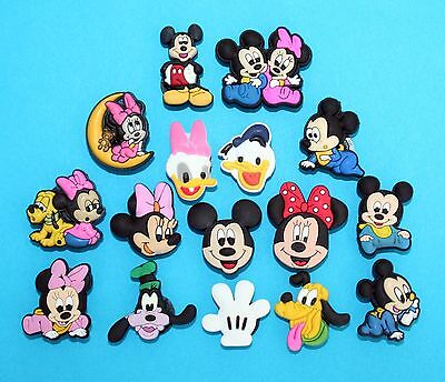 Mickey Mouse Cake Decorations 16 Cupcake Toppers Piñatas Toys Minnie Charms NEW](Minnie Cake Decorations)