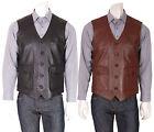 Short Leather Men's Waistcoats