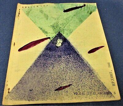 SPACEWARP #18 Art Rapp sf fanzine Sept. 1948