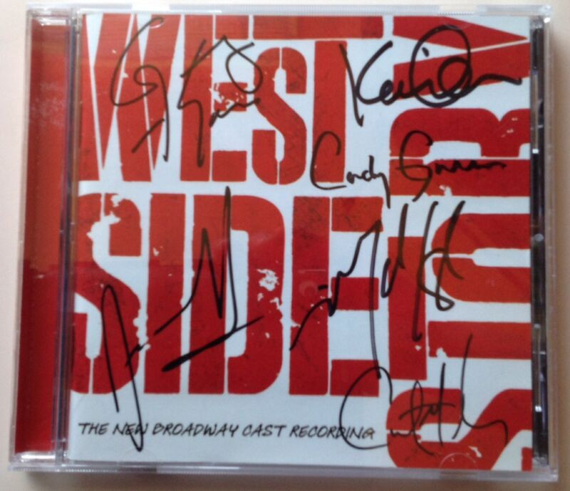 WEST SIDE STORY SIGNED NEW BROADWAY CAST CD KAREN OLIVO MATT CAVENAUGH SCAGLIONE
