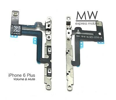 Volume Control Mute Switch Button Flex Cable w/Bracket Apple iPhone 6 Plus 5.5