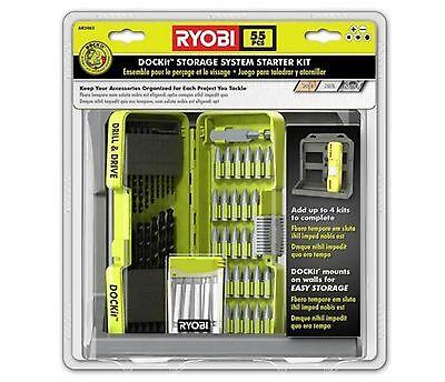 Токарные инструменты Ryobi 55-Pieces DOCKit Black
